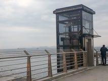 Autostrada wiaduktu windy wierza Yenikapı Istanbuł obraz royalty free