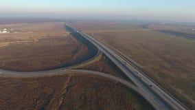 Autostrada widzieć od above zdjęcie wideo