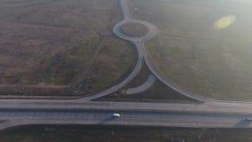 Autostrada widzieć od above zbiory wideo