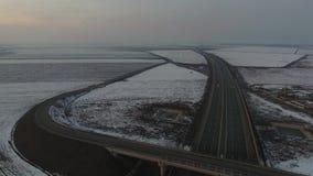 Autostrada widzieć od above, trutnia widok zdjęcie wideo