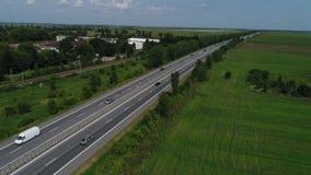 Autostrada widzie? od above zbiory