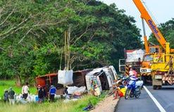 Autostrada wypadek Zdjęcia Royalty Free