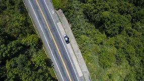 Autostrada wzdłuż morza, autostrady Angra dos Reis Rio De Janeiro obraz stock