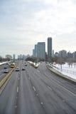Autostrada z copyspace Zdjęcia Royalty Free