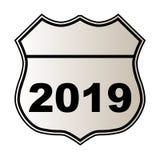 2019 autostrada znak Zdjęcia Stock