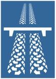 autostrada znak Zdjęcie Royalty Free
