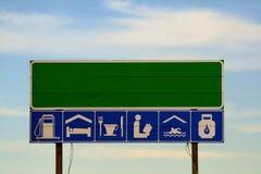 autostrada znak Obrazy Royalty Free