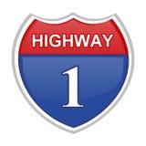 autostrada znak Zdjęcia Royalty Free