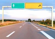 Autostrada znak Obraz Royalty Free