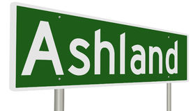 Autostrada znak dla Ashland Oregon Zdjęcia Royalty Free