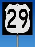 Autostrada znak dla trasy 29 Zdjęcie Royalty Free