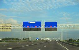 autostrada znaki na Zdjęcia Royalty Free