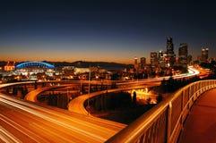 Autostrade senza pedaggio di Seattle Fotografia Stock