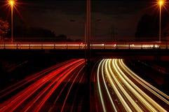 Autostrady światło Wlec UK Zdjęcia Stock