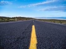 Autostrady asfaltowa droga Zdjęcia Stock