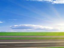 autostrady asfaltująca droga Fotografia Stock