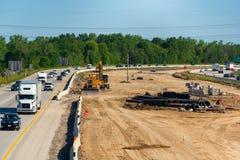 Autostrady budowa Obraz Royalty Free