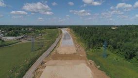 Autostrady budowy widok z lotu ptaka zbiory wideo