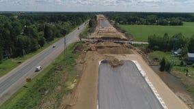Autostrady budowy widok z lotu ptaka zbiory