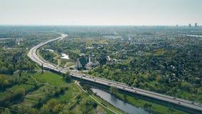 Autostrady krzywa blisko Warszawskiego Polska zdjęcie wideo