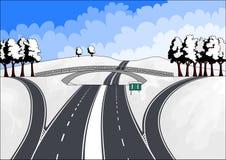 autostrady kształtują teren zima Royalty Ilustracja