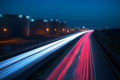 autostrady noc fotografia stock
