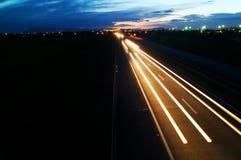autostrady noc Obraz Royalty Free