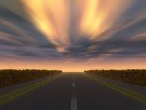 autostrady nocy prędkości ilustracja wektor