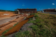 Autostrady nowy Bridżowy Rozszerzenie Fotografia Royalty Free