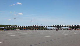 Autostrady opłaty drogowa brama w Francja Zdjęcie Stock