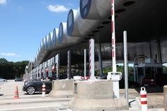 Autostrady opłaty drogowa brama w Francja Obraz Royalty Free