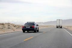 autostrady policja Zdjęcia Royalty Free