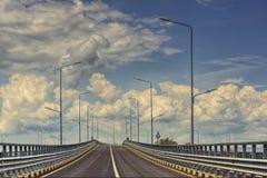 autostrady pusta droga Obrazy Royalty Free