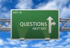 autostrady pytań kierunkowskaz ilustracji