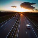 autostrady ruch drogowy Zdjęcia Royalty Free