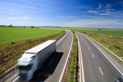 autostrady ruch drogowy Obrazy Royalty Free