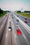 autostrady spływowy ruch drogowy Obrazy Royalty Free