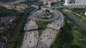 Autostrady tollbooth przy wymianą Obraz Royalty Free