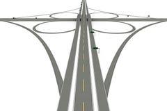 Autostrady Wymiana ilustracja wektor