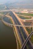 Autostrady złącze, antena fotografia stock