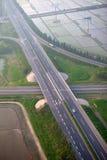 Autostrady złącze, antena fotografia royalty free