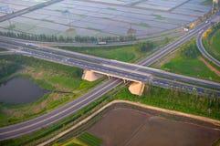 Autostrady złącze, antena Zdjęcie Royalty Free