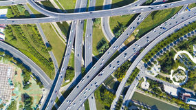 Autostrady Zhengzhou porcelana obrazy royalty free