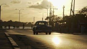 autostrady zmierzchu odgórny widok zdjęcie wideo