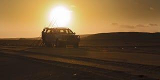 Autostrand Visserijreeks Stock Afbeeldingen