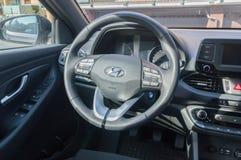 Autostuurwiel van Hyundai i30 royalty-vrije stock fotografie