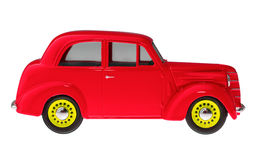 Autosymbol Retro- Spielzeugauto lokalisiert Lizenzfreie Stockfotografie