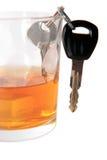 Autotasten innerhalb des Bourbonglases Stockfotografie