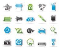 Autoteil und Service-Ikonen 2 Lizenzfreie Stockbilder
