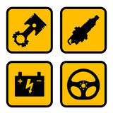 Autoteilsymbole Stockfotografie